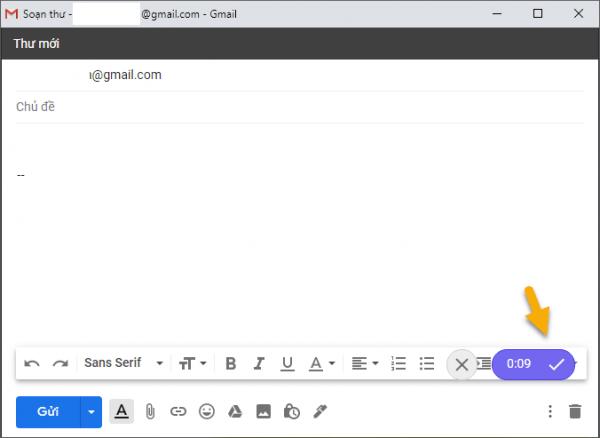 Cách gửi tin nhắn âm thanh trong Gmail 3