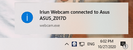 Iriun Webcam: biến điện thoại iOS, Android thành webcam cho máy tính 4