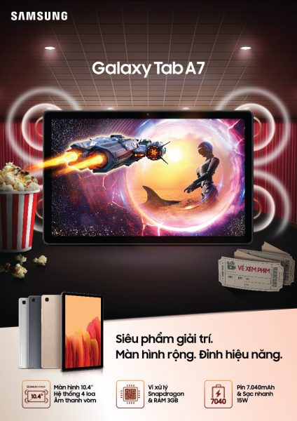 Ra mắt máy tính bảng Galaxy Tab A7: Siêu phẩm giải trí đỉnh cao 1