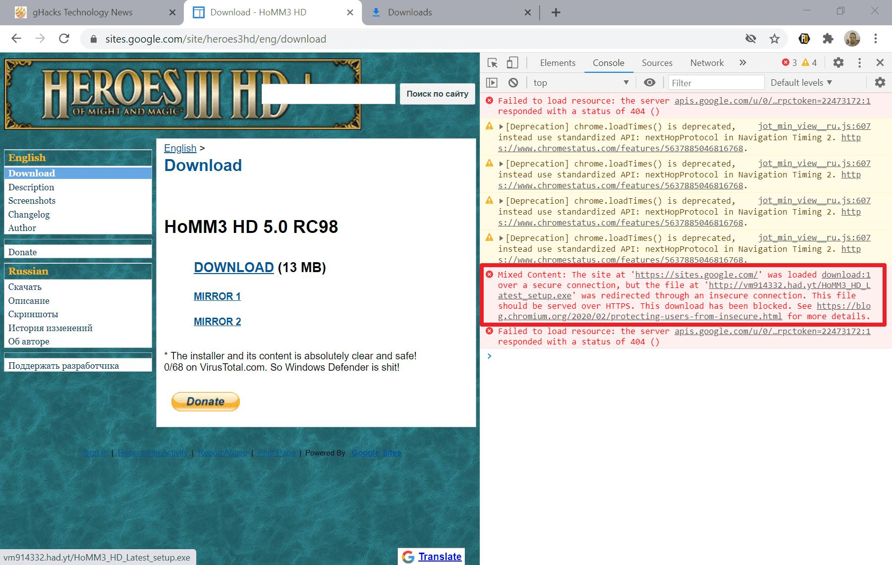 Chrome chặn tải file xuống? Làm sao xử lý 1