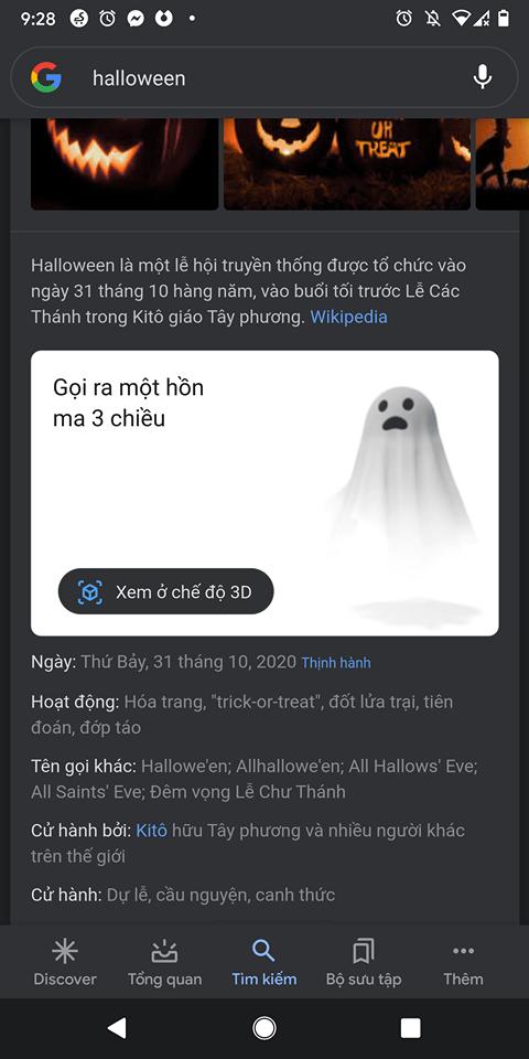 Google bổ sung động vật 3D mới cho Halloween 4