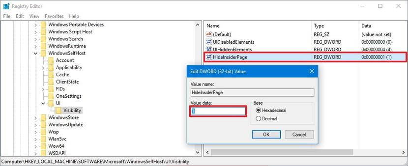 Cách xoá mục Windows Insider Program trong Windows 10 1