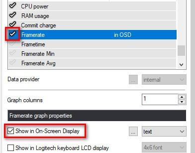 Hiển thị tốc độ khung hình trong MSI Afterburner