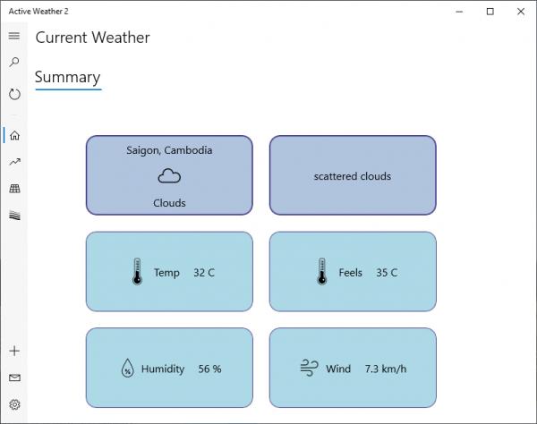 Active Weather 2: Ứng dụng xem dự báo thời tiết và chất lượng không khí 2