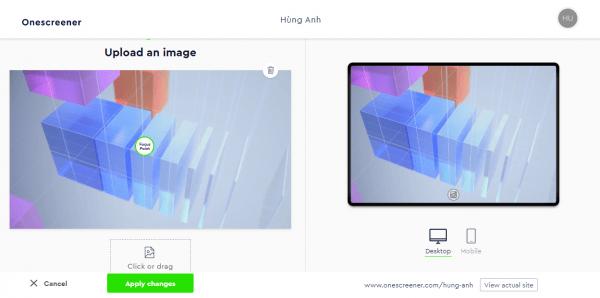 Onescreener: Cách tạo trang web quảng cáo miễn phí 4