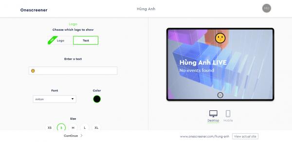 Onescreener: Cách tạo trang web quảng cáo miễn phí 7