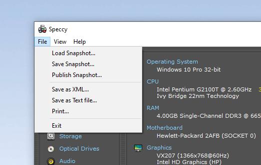 Speccy: Xem thông tin phần cứng máy tính Windows chi tiết 5