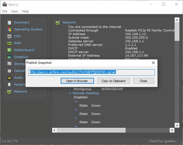 Speccy: Xem thông tin phần cứng máy tính Windows chi tiết 8