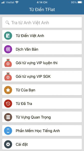 TFlat: Tra tự điển Việt – Anh, Anh – Việt offline trên di động 1