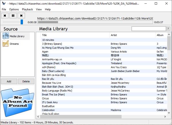 Tuniac Media Player: Trình phát nhạc online miễn phí trên Windows 1
