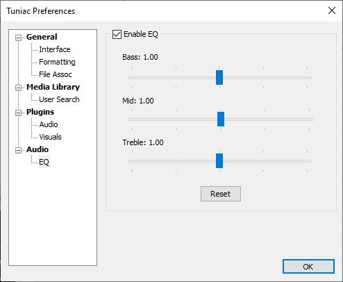 Tuniac Media Player: Trình phát nhạc online miễn phí trên Windows 5