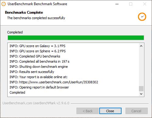 UserBenchmark: kiểm tra hiệu suất, sức mạnh máy tính Windows 3