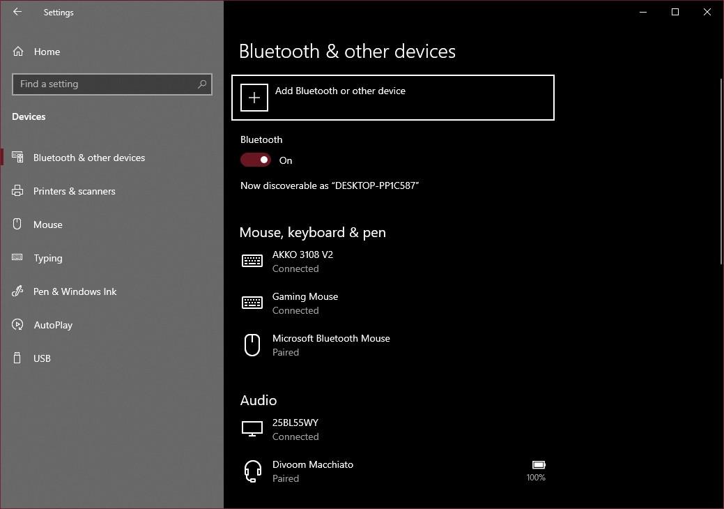 Vào phần cài đặt Bluetooth trên máy tính