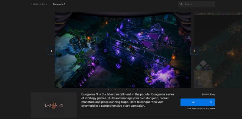 Đang miễn phí game chiến thuật Dungeons 3 hài hước và hay