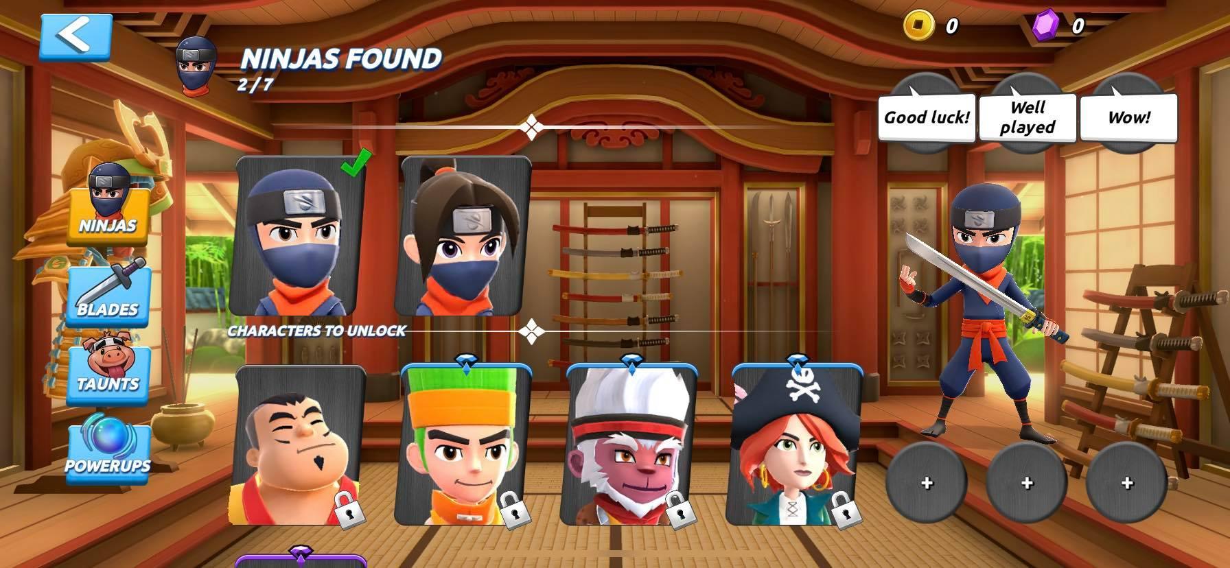 Mua sắm trong Fruit Ninja 2
