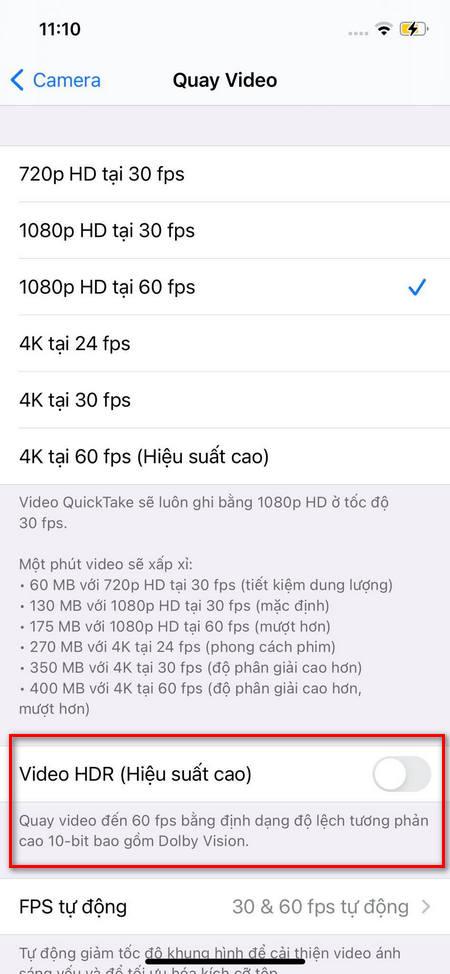 Cách quay video Dolby Vision HDR trên iPhone 12 1