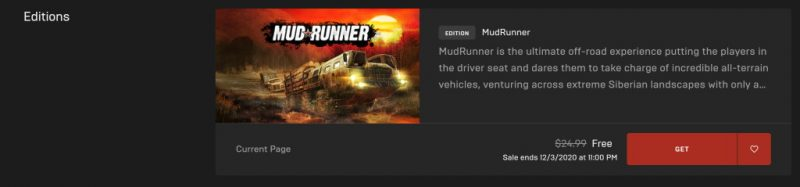 Đang miễn phí game MudRunner