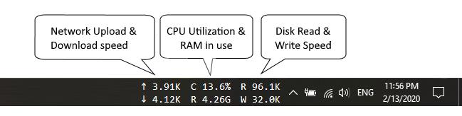 Taskbar stats
