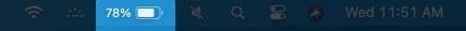 Xem phần trăm pin trên thanh menu trong macOS Big Sur