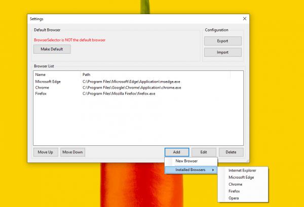 Cách mở liên kết trên Windows 10 trong trình duyệt portable