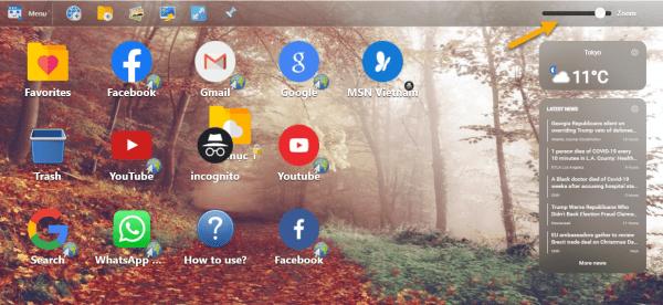 Desktop New Tab: Biến trang New Tab của Chrome giống màn hình desktop 11