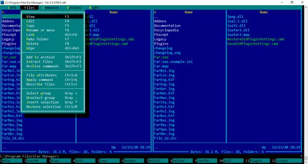 Far Manager: Trình quản lý file mang phong cách MS-DOS 3