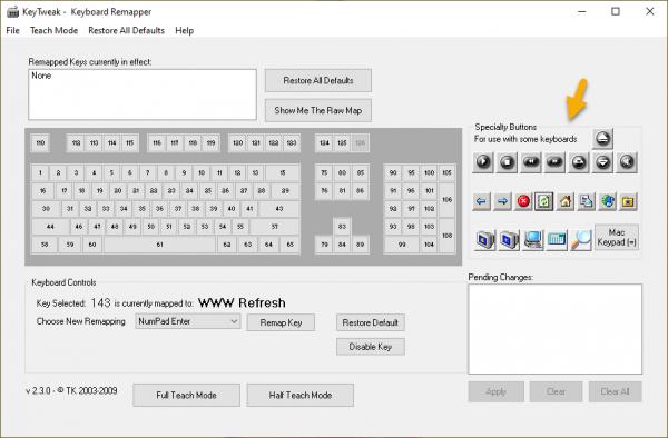 KeyTweak: thay đổi chức năng bàn phím 1