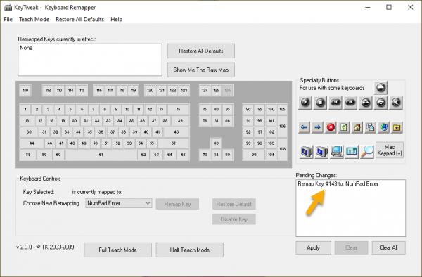 KeyTweak: thay đổi chức năng bàn phím 2