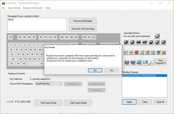 KeyTweak: thay đổi chức năng bàn phím 3
