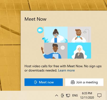 Cách sử dụng Meet Now trên Windows 10 1