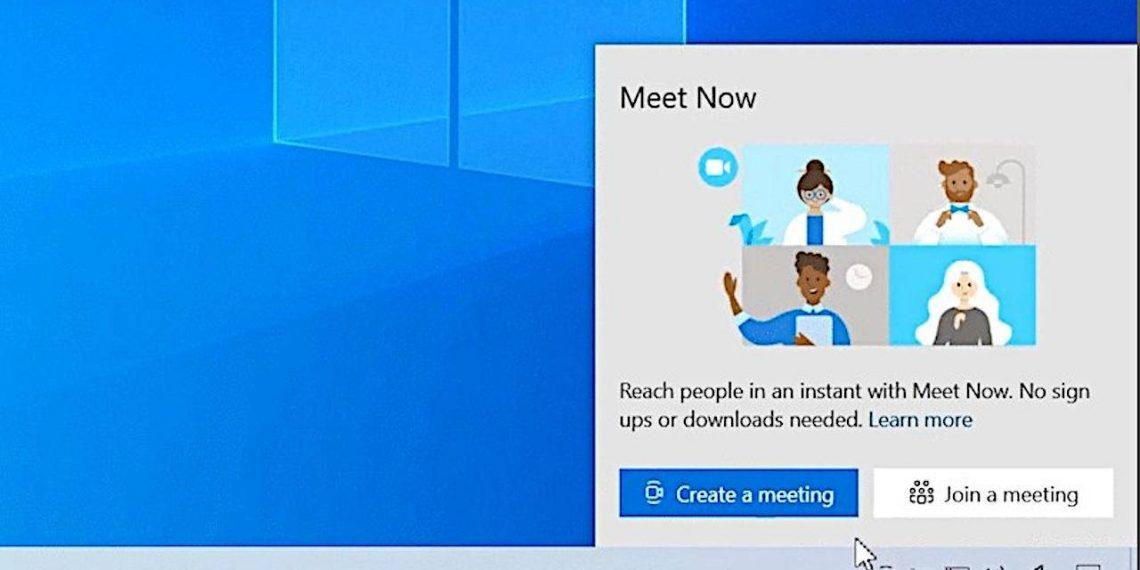 Cách sử dụng Meet Now trên Windows 10
