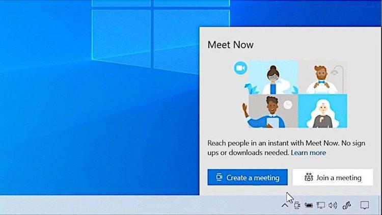 Cách sử dụng Meet Now trên Windows 10 12