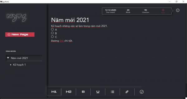 Nots: phần mềm ghi chú cho nhiều hệ điều hành 3