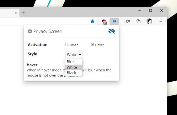Cách làm mờ nhanh màn hình trang web trên Chrome, Microsoft Edge 2