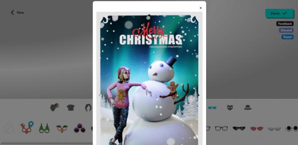 Tạo thẻ chúc mừng Giáng Sinh có hình ảnh 3D của bạn 4