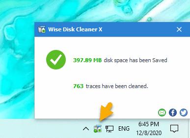 Wise Disk Cleaner: Dọn dẹp nhanh file rác, cookie trình duyệt,... chỉ 1 click chuột 8