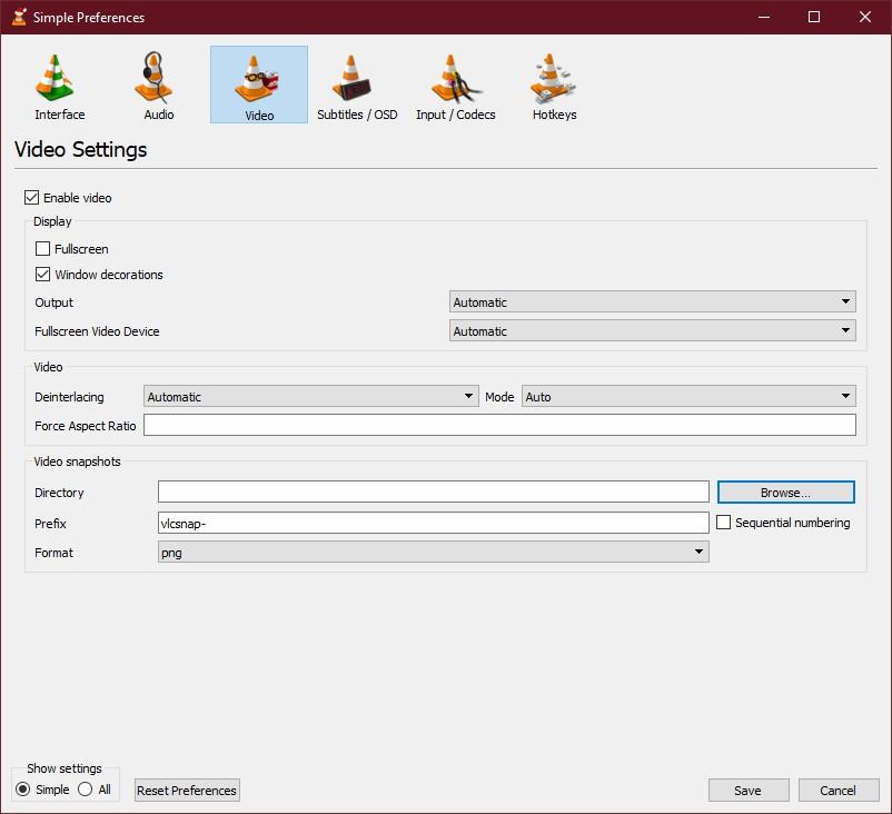 Chụp ảnh từ video trong VLC Media Player