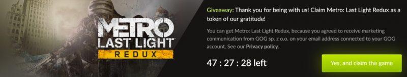 Đang miễn phí game FPS Metro: Last Light Redux chỉ 48 tiếng