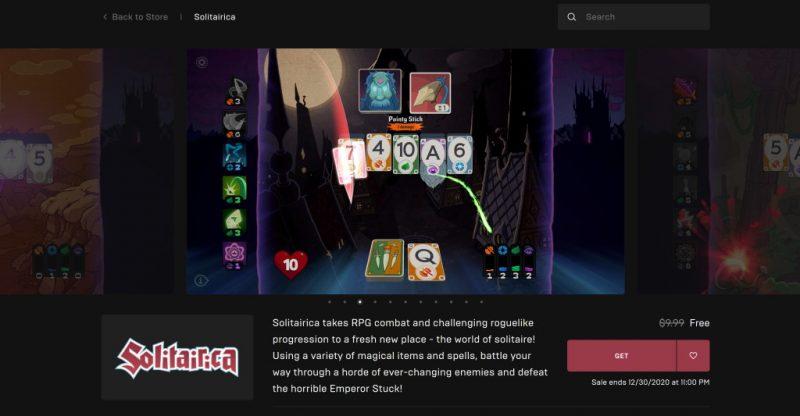 Đang miễn phí game Solitairica chỉ 24 tiếng