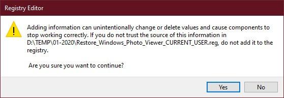 Cách cài đặt Windows Photo Viewer cho Windows 10