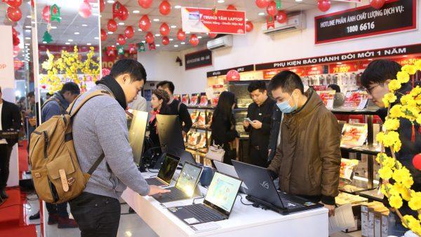 Doanh số laptop tăng trưởng gấp 5 lần sau Tết
