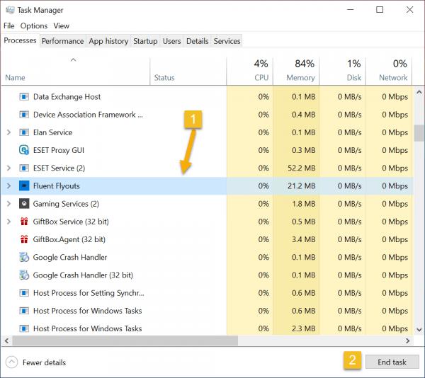 Fluent Flyouts: Xem % pin, độ chai pin trên Windows 10