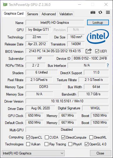 Dùng GPU-Z xem thông số kỹ thuật card màn hình máy tính Windows 7