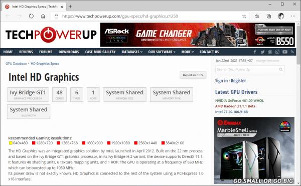 Dùng GPU-Z xem thông số kỹ thuật card màn hình máy tính Windows 8