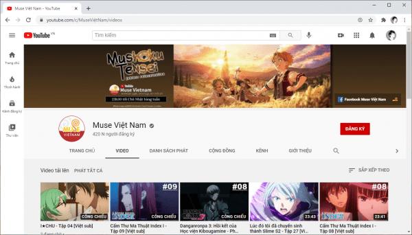 Muse Việt Nam: Nơi phát miễn phí Anime bản quyền có phụ đề Việt trên YouTube 3