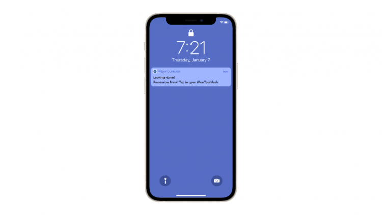 Cách nhờ iPhone nhắc nhở đeo khẩu trang khi rời khỏi nhà 11