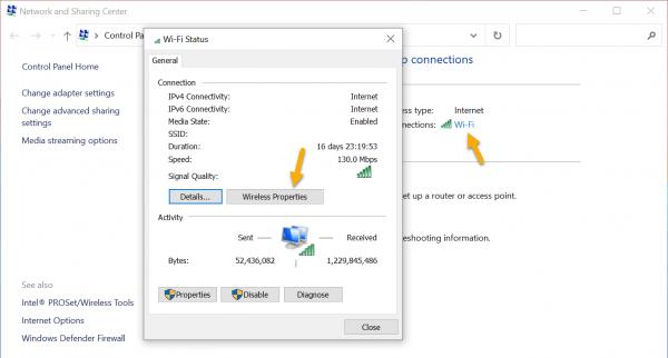 Cách xem mật mã Wi-Fi trên máy tính Windows 7