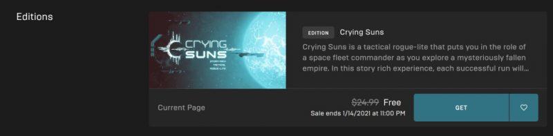 Đang miễn phí game Crying Suns