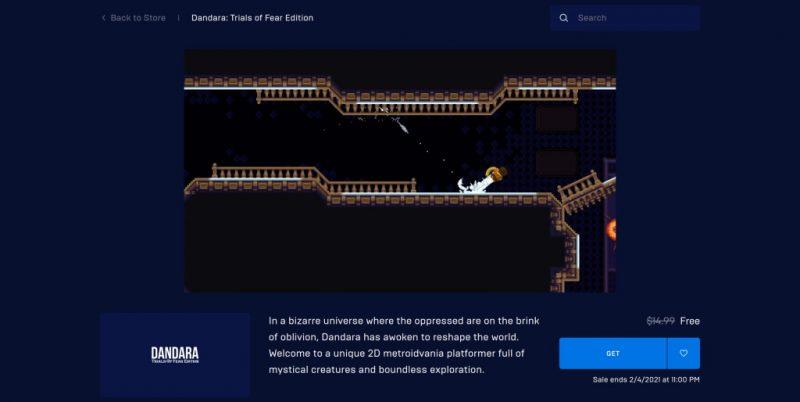 Đang miễn phí game Dandara: Trials of Fear Edition