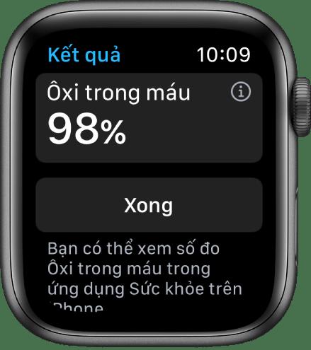 Đo oxy trong máu với Apple Watch series 6